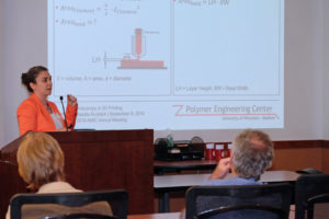 Professor Natalie Rudolph presents during the second parallel session on Polymer Engineering