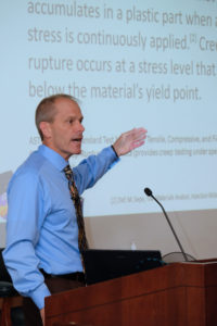 Dr. Paul Gramann, President of The Madison Group, presents during the parallel session on Polymer Engineering