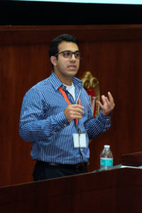 Amir Mashal from Thermo Fisher Scientific and PhD candidate at UW-Madison presents during the Annual Meeting