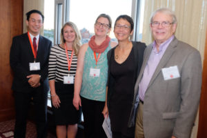 AMIC Annual Meeting planning committee members, (left to right) Felix Lu, Jennifer Weber, Erin Gill, Susann Ely and Jon McCarthy