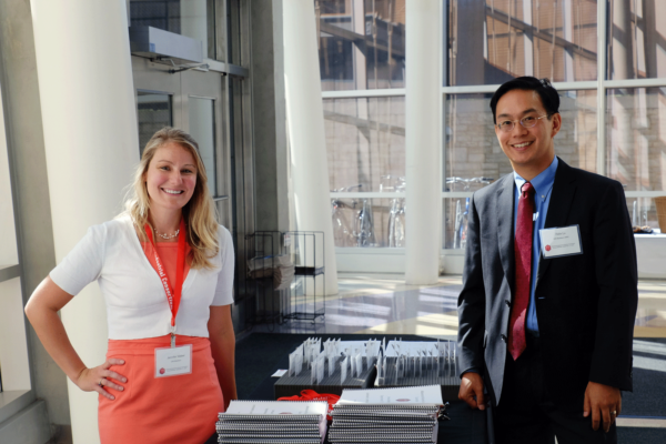 Jennifer Weber and Felix Lu at the 2015 AMIC annual meeting. Photo Credit: Susann Ely, Wisconsin Materials Institute