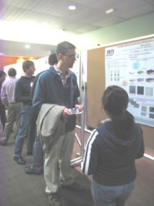 Professor Mike Arnold, MS&E at the poster Session