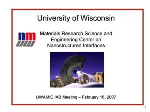 University of Wisconsin Powerpoint