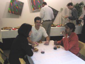 NSEC Director Paul Nealey, with Shashi Jasty SA and Katerina Moloni, nPoint